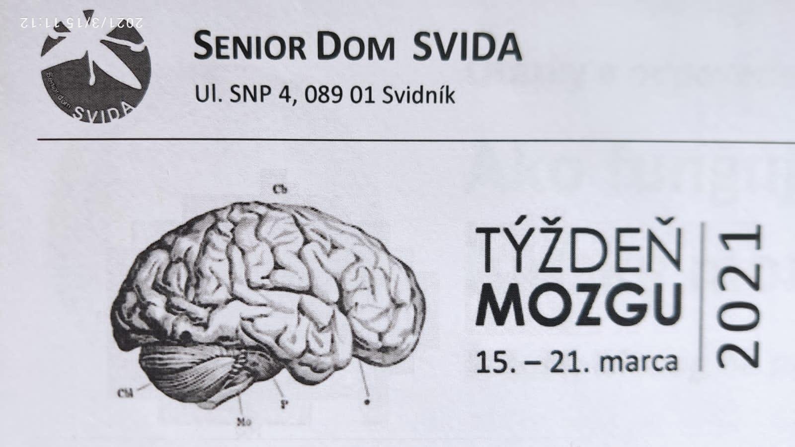 Týždeň mozgu – 15.-21.3.2021